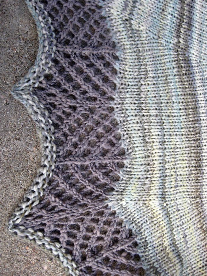 Crevasse Shawl knitting pattern