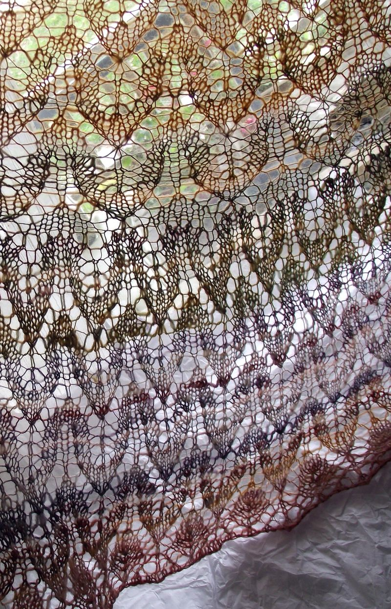 Spinning Leaves Shawl knitting pattern