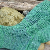 Floating Glass Socks knitting pattern
