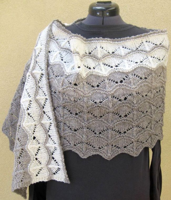 Currach Stole knitting pattern