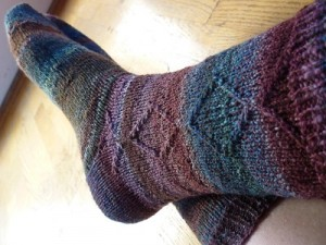Diamond Jim Socks knitting pattern